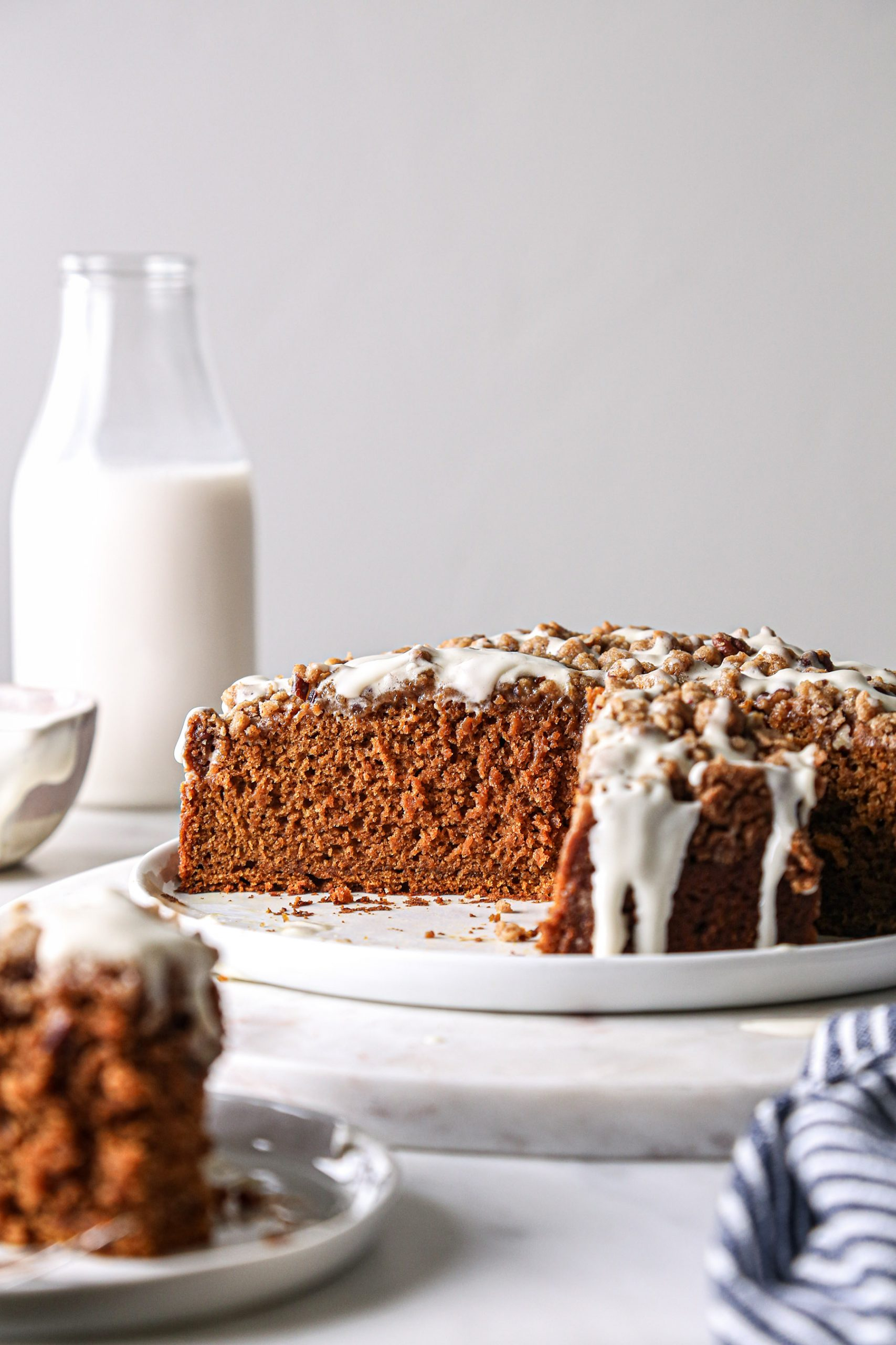Pumpkin Coffee Cake | Vegan friendly with gluten free + refined sugar free options