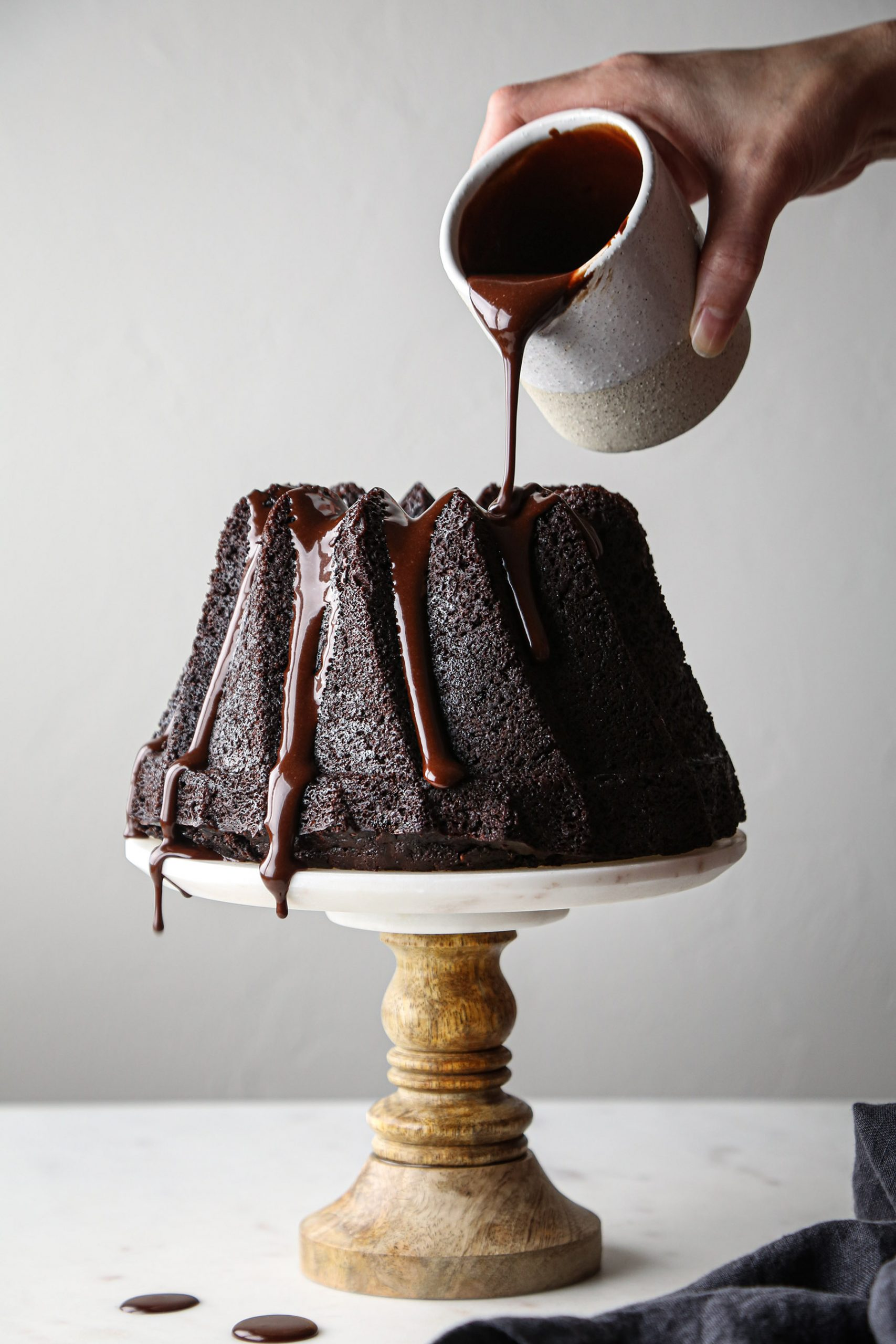 Simple Chocolate Bundt Cake | Vegan friendly with gluten free and refined sugar free options.