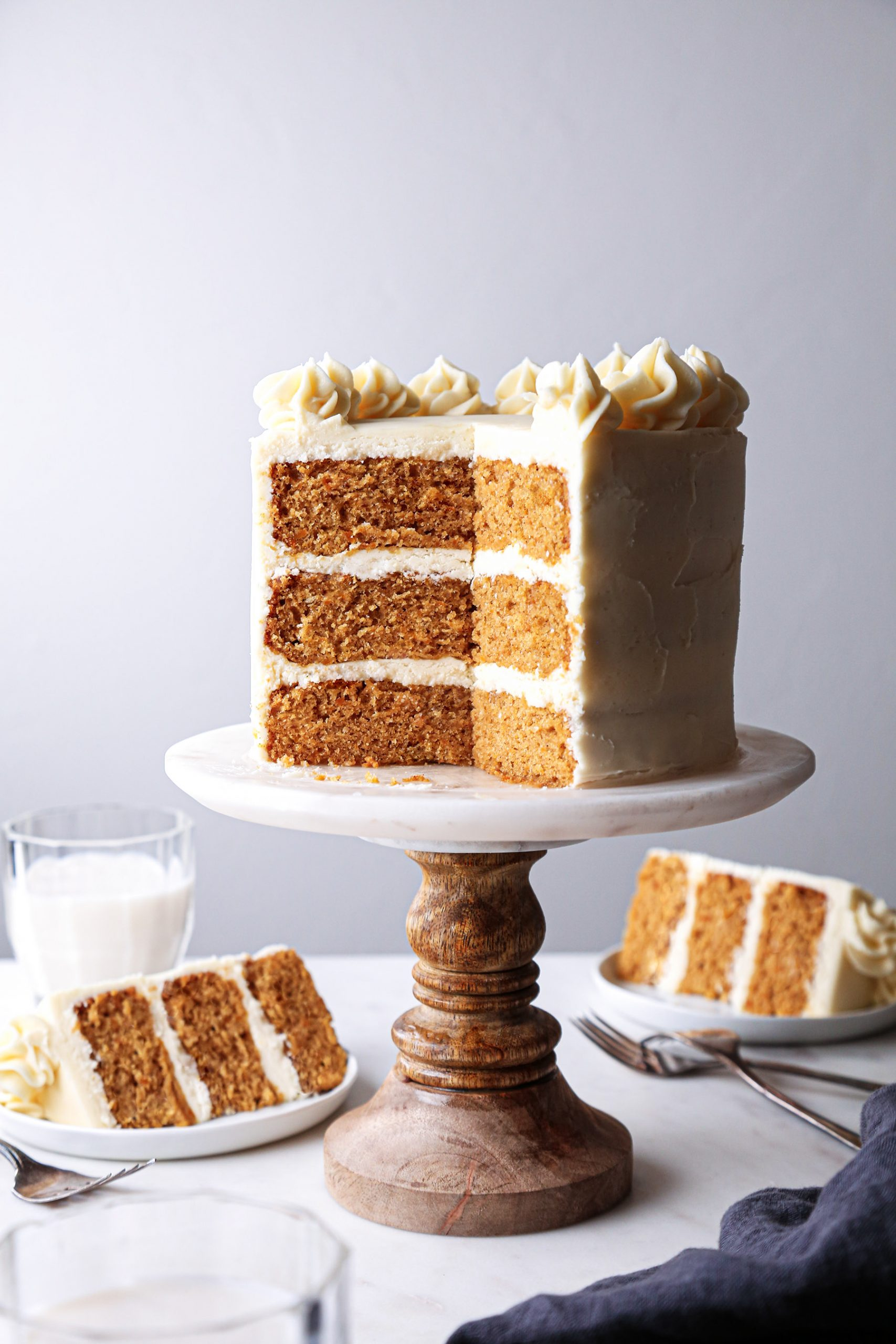 Pumpkin Layer Cake | Vegan friendly with gluten free and refined sugar free options.
