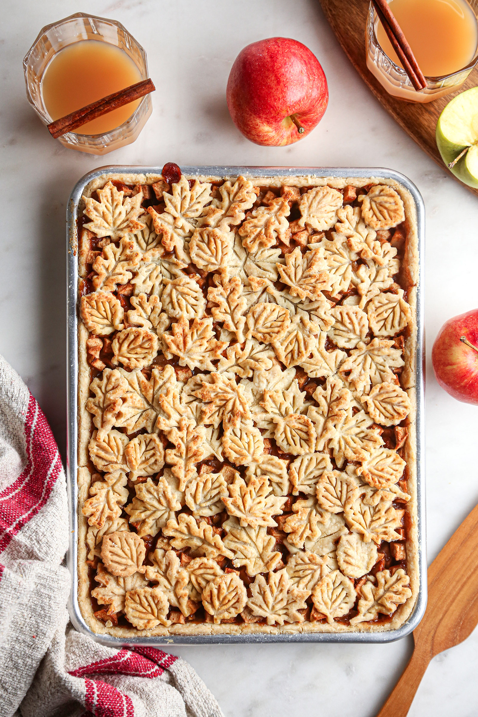 Apple Slab Pie | Vegan friendly with gluten free and refined sugar free options