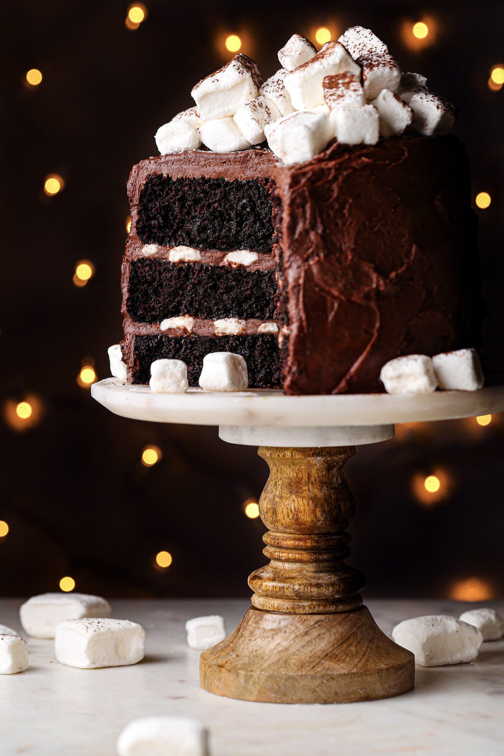 Hot Chocolate Cake   Gluten free, refined sugar free, and vegan options.