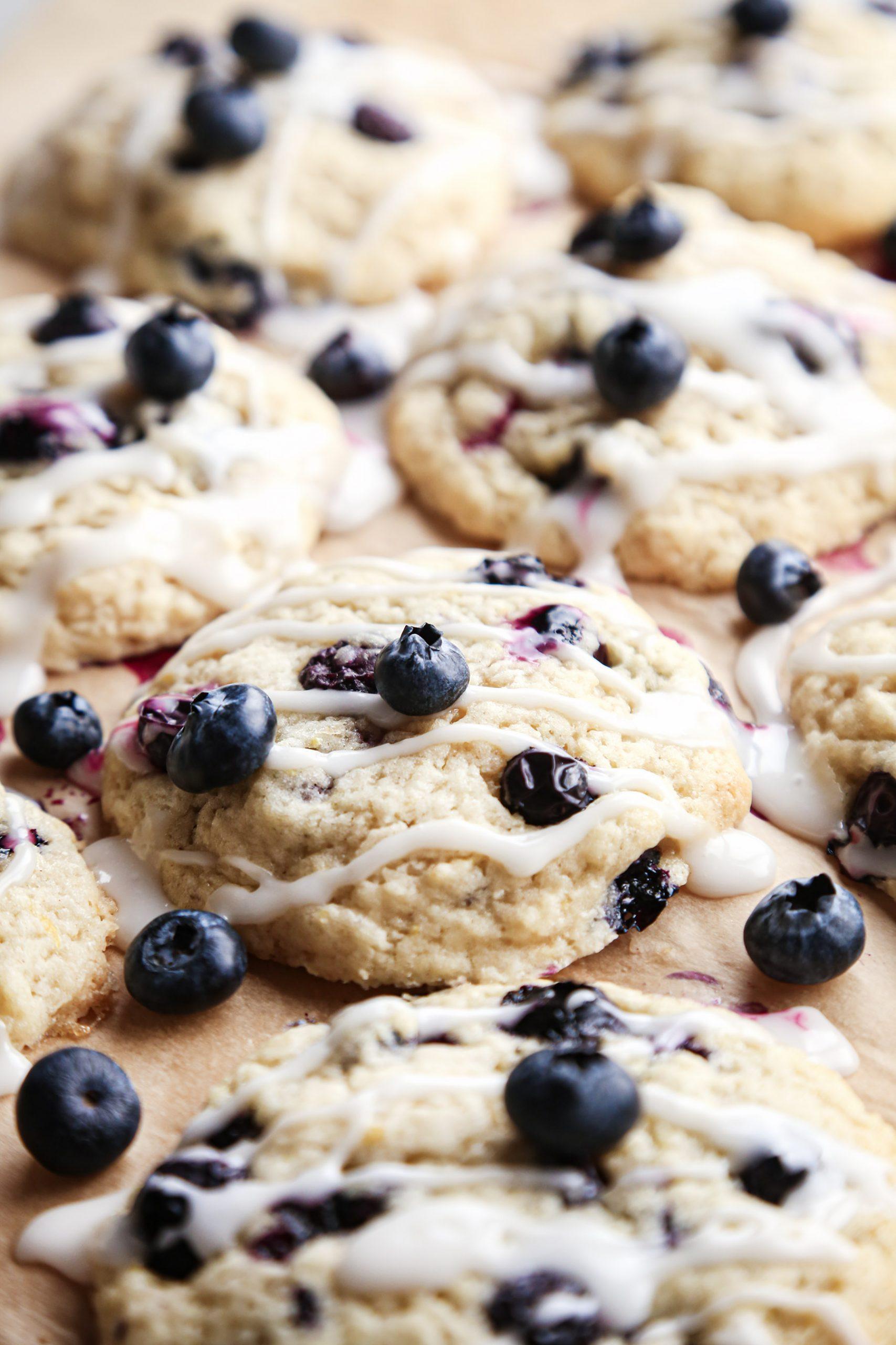 Soft Lemon Blueberry Cookies | Vegan Friendly with Gluten-Free Alternative