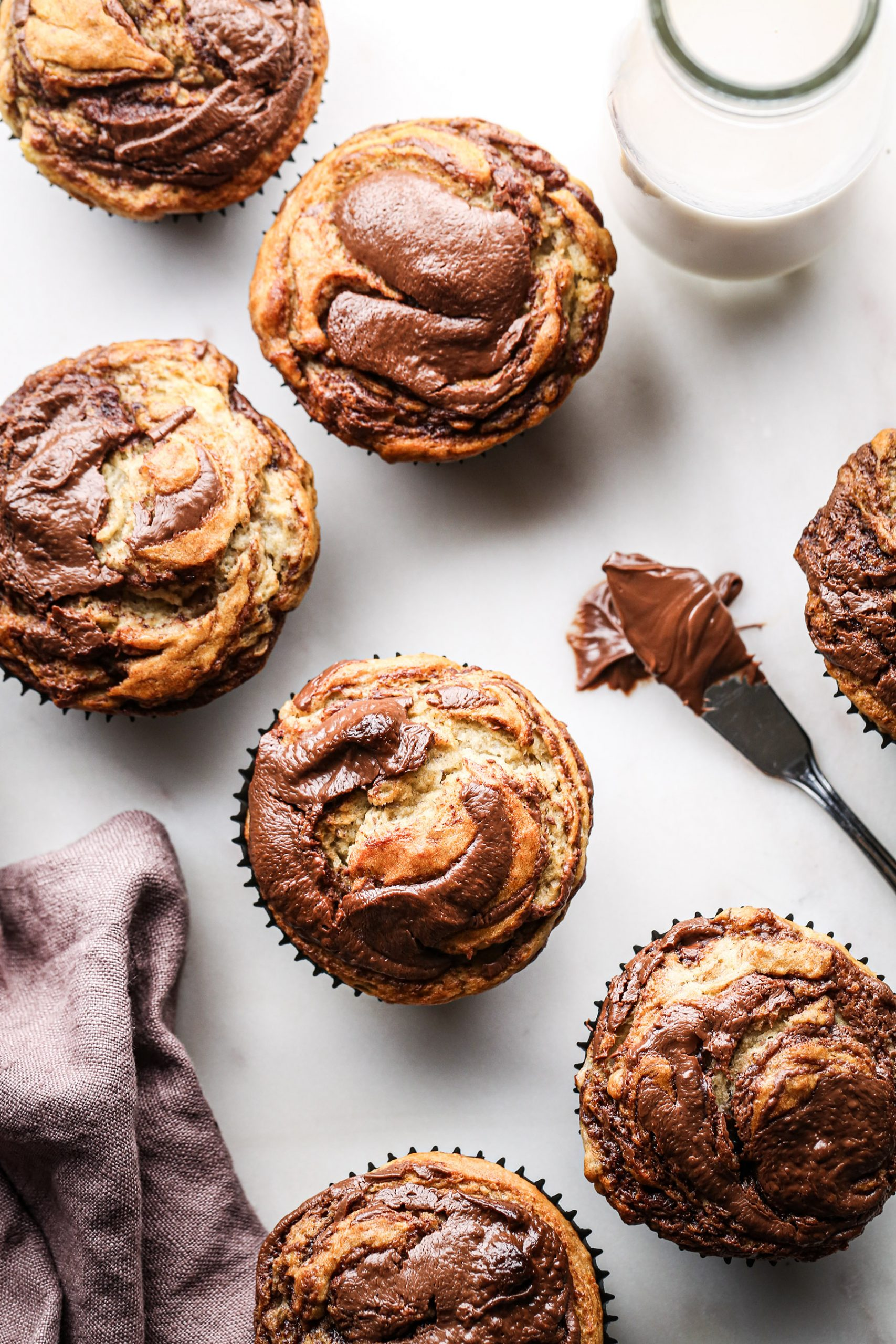 Banana Nutella Muffins | Vegan friendly and refined sugar free with gluten free option
