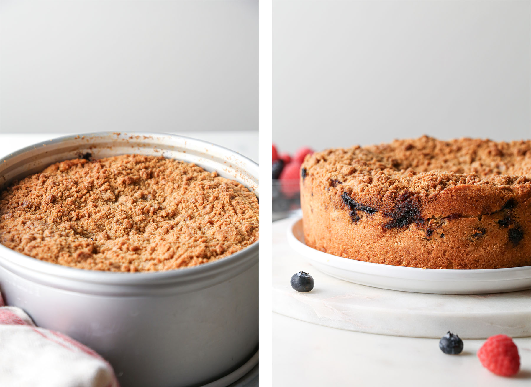 Berry Cream Cheese Coffee Cake After Bake in Pan