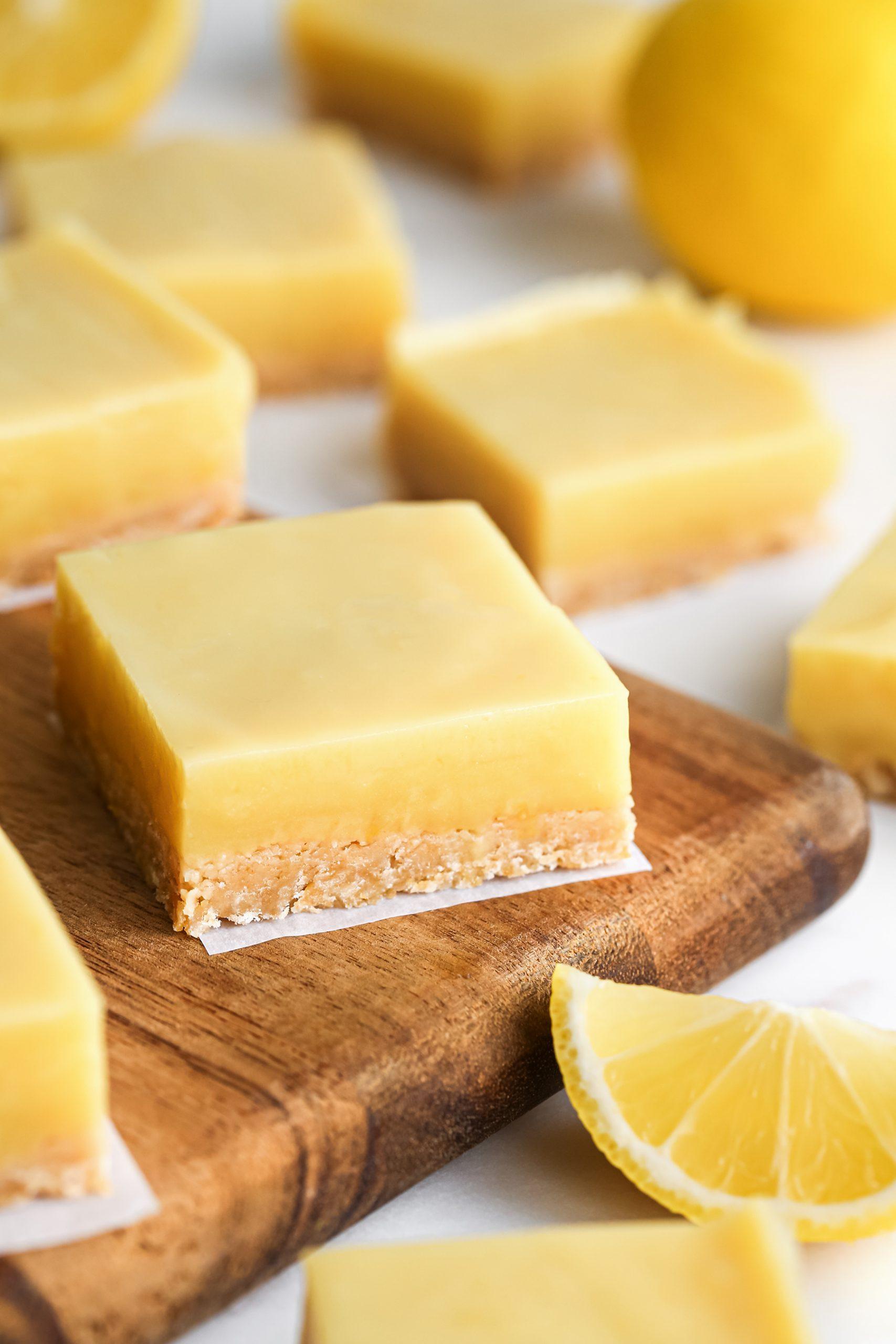 Naturally Sweetened Lemon Bars
