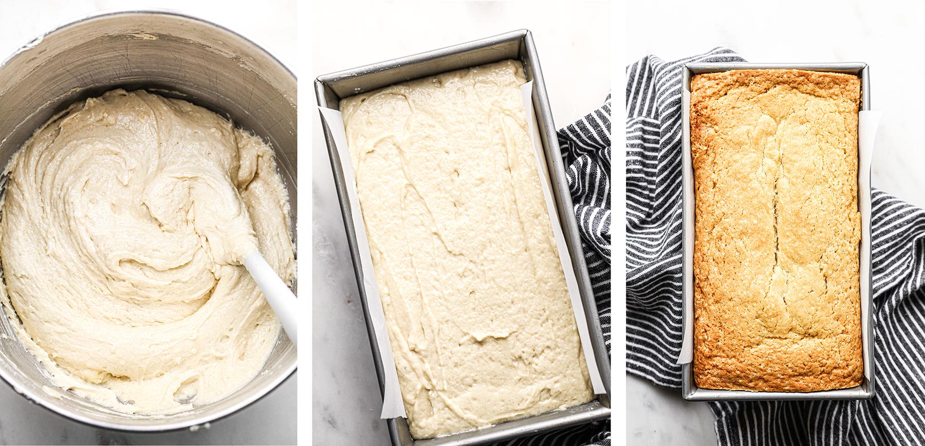 Vegan Pound Cake Batter | Pre-Bake and After Bake